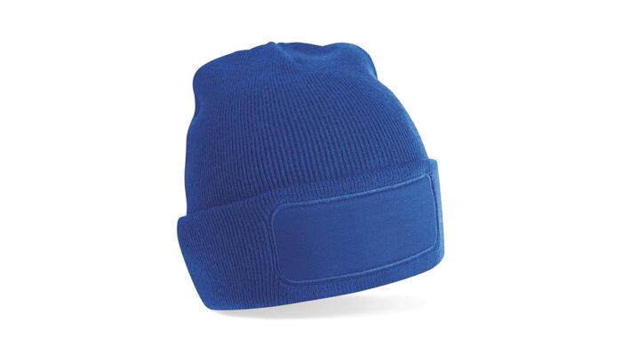 Mütze royal blau – selber gestalten