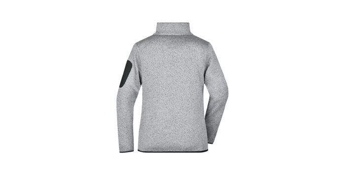 Damen Fleecejacke light grey – selber gestalten