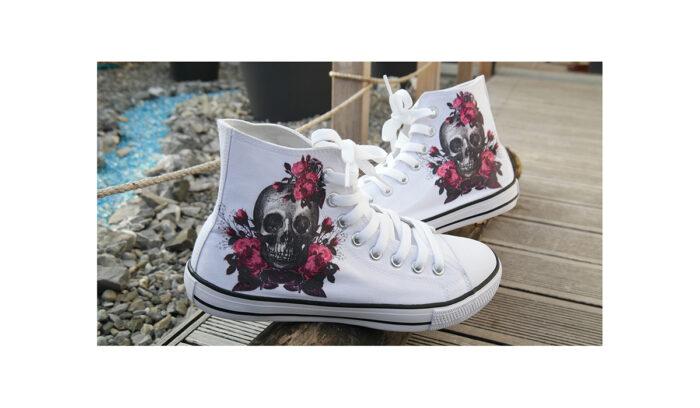 Schuhe – Flower Skull Gr.39