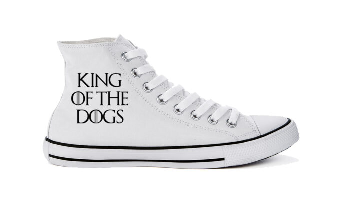Schuhe, high cut, weiss – King of the Dogs
